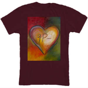 BERGANDY HEART T