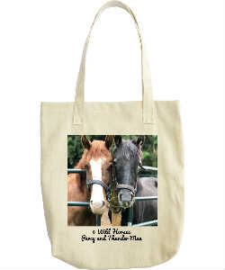 Percy and Thunder Mae tote