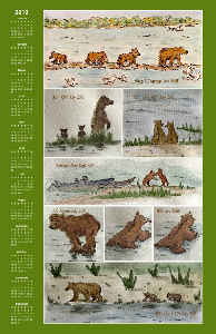 Brooks Falls Katmai Watercolor 2019 Calendar