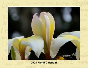 2021 Floral Calendar with border