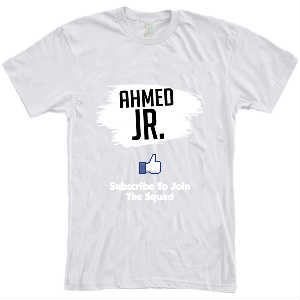 New Men Red Ahmed Jr. T-Shirt