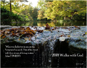 2018 Walks with God 12-Month Wall Calendar