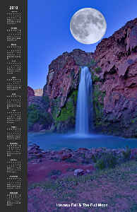 Havasu Fall at Full Moon