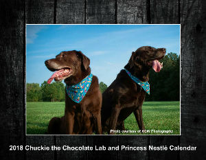 2018 Chuckie the Chocolate Lab and Princess Nestle