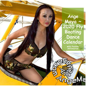 Ange Maya ~ 2020 Fly Boating 12x12 Calendar