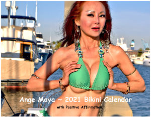 Ange Maya ~ 2021 Bikini Calendar with Affirmation
