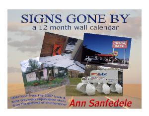Signs Gone By Wall calendar