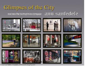 Glimpses of the City  - a wall calendar