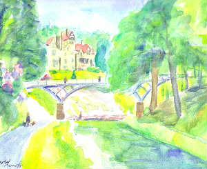 Cragside Hall canvas