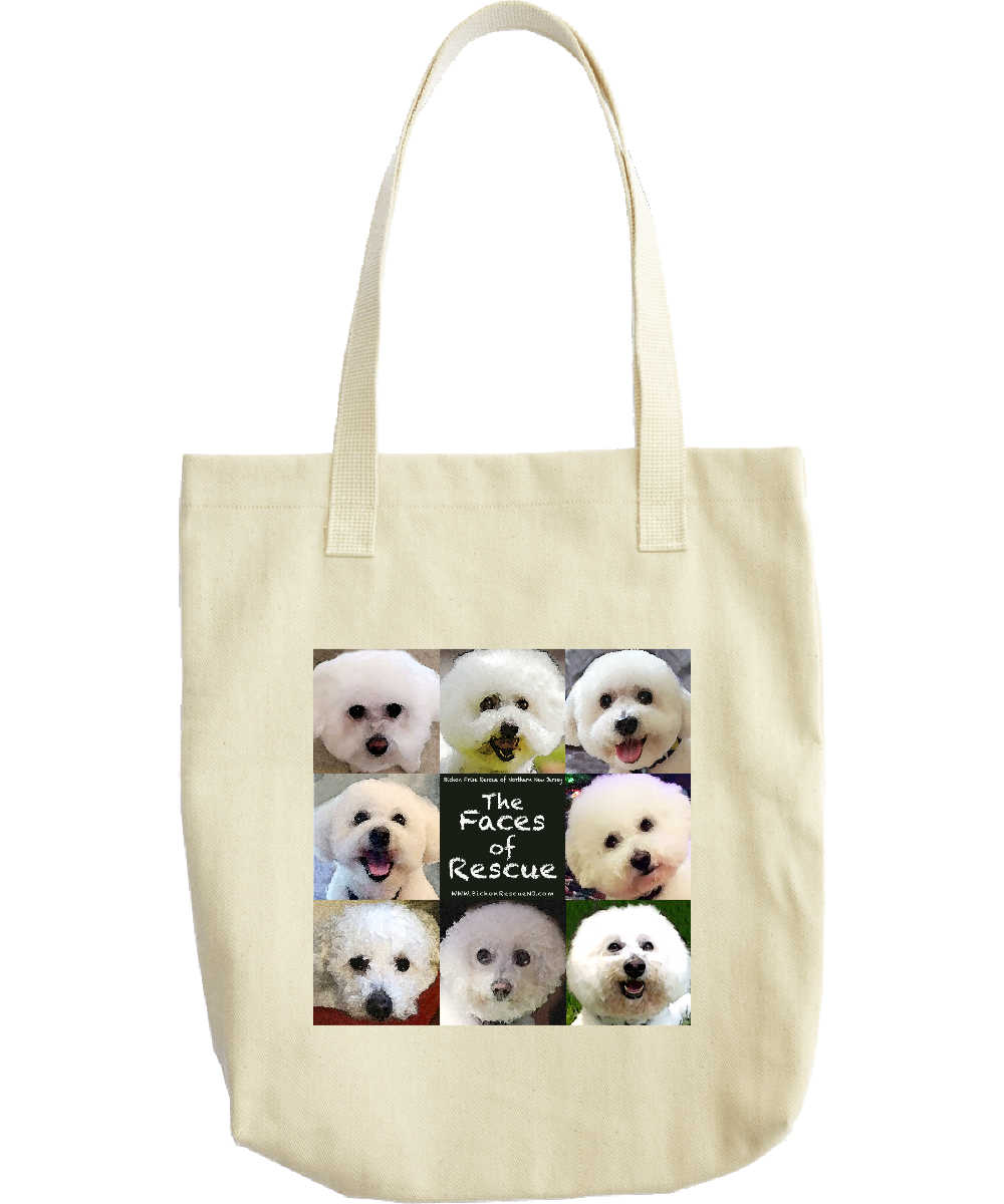 Bichon Frise Rescue of Northern NJ Tote Bag