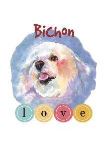 Bichon Love Greeting Card