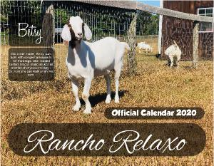 Official 2020 Calendar - Rancho Relaxo