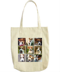 Faces of Russell Terriers Tote Bag-1