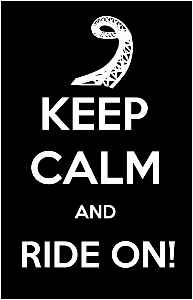 Keep Calm Ride On! Photo Poster 11x17