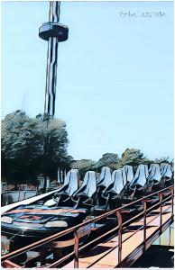 Intimidator Train 11x17 Photo Poster