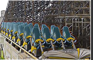Fury 325 Train Photo Poster