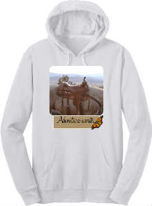 Adventure awaits horse hoodie
