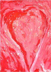 Card Abstract Heart Spread Love By Concetta Ellis