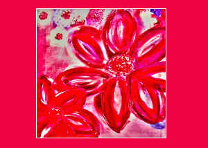Note Card Spring Flowers Painting 2020
