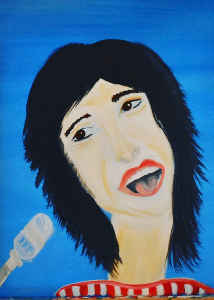 Card Painting Of Steve Perry From Journey