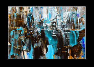 Card Abstract Art Waterfall #2  By Concetta Ellis