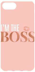 I'm the boss iPhone case