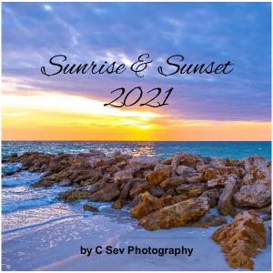 2021 Sunrise and Sunset Wall Calendar 12x12