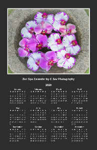 2020 Zen Spa Calendar - Purple
