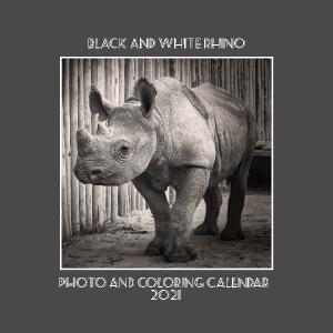 2021 B&W Rhino Photo and Coloring Calendar