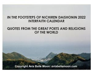 THE FOOTSTEPS OF NICHIREN DAISHONIN 2021 CALENDAR