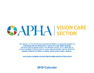 2019 Vision Care Section Calendar