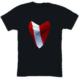 Shark Tooth Dive Flag Tee