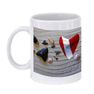 Shark Tooth w/ Dive Flag Mug