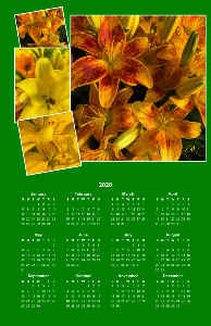 Lily Poster Calendar