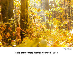 Strip off for male mental wellness - 2018