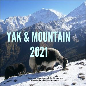2021 Yak and Mountain Wall Calendar 12x12