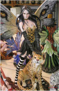 Fairy with Leopard Poster
