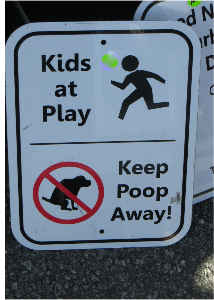 Poo Sign Card
