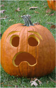 Shocked Pumpkin Poster