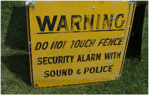 Warning Sign Poster