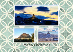 Merry Christmas Western Nebraska Landmarks Card