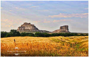 Courthouse and Jail Rocks Photo Poster