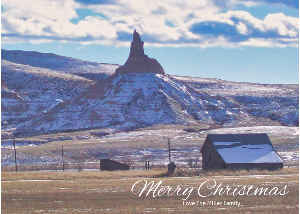 Merry Christmas Snowy Chimney Rock Card