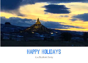 Happy Holidays Chimney Rock Card