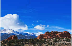 Pike's Peak Garden of the Gods Photo Poster