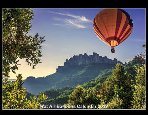 Hot Air Balloon Calendar 2019