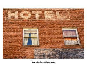 Retro Lodging Signs Calendar 2020