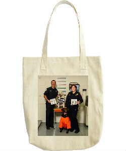Cops and Paws Jailhouse Paws Tote