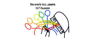 One Minute Jazz Lessons 2017 Calendar