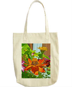 Brilliant Orange Flower Tote Bag
